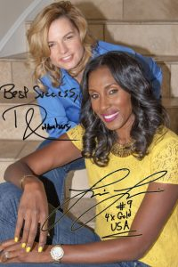 Autographed picture of Lisa Leslie and Bridgette Chambers